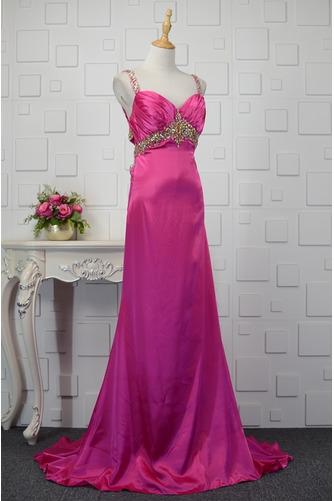 Vestido de fiesta primavera Satén Elástico Espalda Descubierta Plisado - Página 2