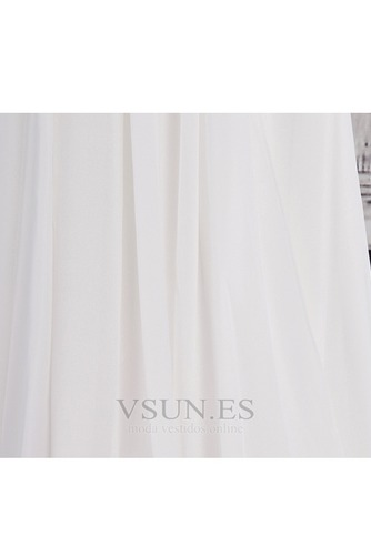 Vestido de novia Verano Manga de Obispo Imperio Cintura Cola Corte vendimia - Página 7