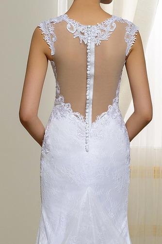 Vestido de novia Natural Elegante Corte Sirena Escote en V Drapeado - Página 5