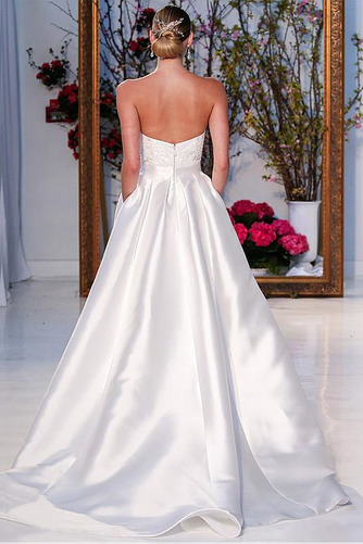 Vestido de novia Natural Asimètrico Dobladillos Sin tirantes Asimétrico Dobladillo - Página 2