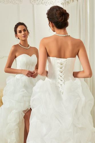 Vestido de novia Elegante Cola Capilla Triángulo Invertido Natural Satén - Página 4