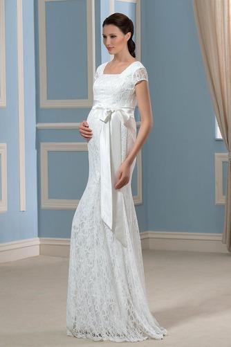 Vestido de novia Embarazadas Cremallera Imperio Cintura primavera Cola Barriba - Página 2