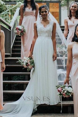Vestido de novia Gasa Capa de encaje Arco Acentuado Espalda Descubierta - Página 1