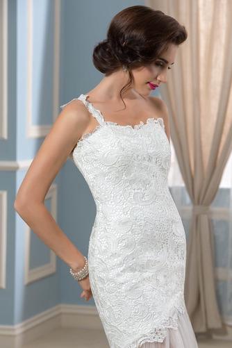 Vestido de novia largo Natural Verano Un sólo hombro Corte Recto Espalda Descubierta - Página 5
