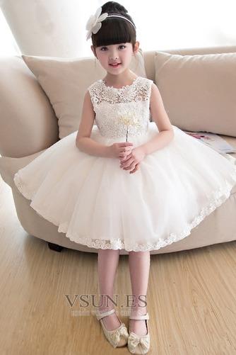 Vestido niña ceremonia Joya Arco Acentuado Otoño Falta Natural Hasta la Rodilla - Página 4