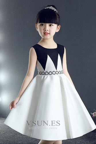 Vestido niña ceremonia Joya Drapeado Falta Hasta la Rodilla primavera Sin mangas - Página 4