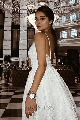 Vestido de cóctel Corto Baja escote en V Espalda Descubierta Encaje Pera - Página 3