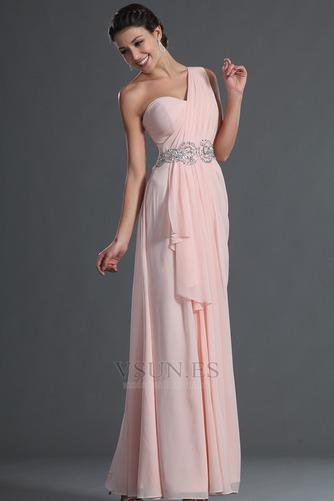 Vestido de fiesta Elegante Bebé rosa Verano Natural Gasa Sin mangas - Página 3