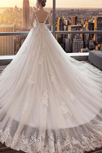 Vestido de novia Espalda Descubierta Cola Real Corte-A Capa de encaje - Página 2