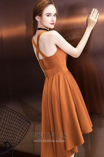 Vestido de cóctel Elegante Espalda Descubierta Asimétrico Dobladillo - Página 4