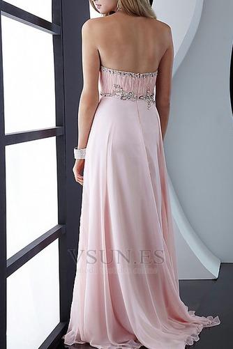 Vestido de fiesta Romántico Plisado Pera Corte-A Sin mangas Cola Barriba - Página 2