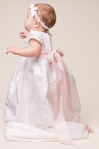 Vestido de Bautizo Rosetón Acentuado Alto cubierto Otoño Flores Manga corta - Página 2