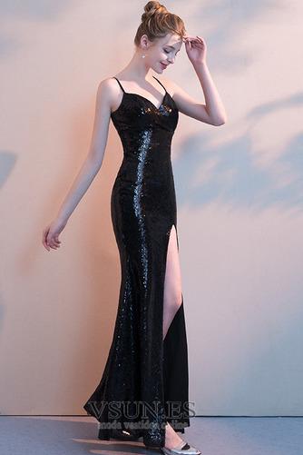 Vestido de fiesta sexy Frontal Dividida Escote de Tirantes Espaguetis - Página 3