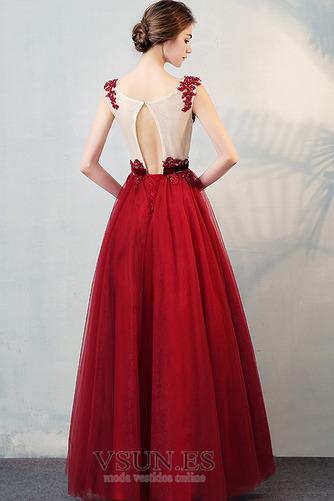 Vestido de fiesta primavera Sin mangas Natural Barco Manzana Abalorio - Página 2