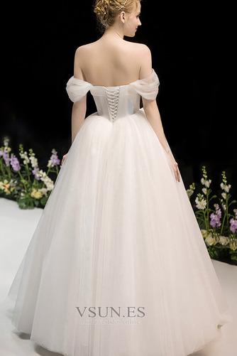 Vestido de novia Fuera de casa Drapeado Corte-A Hasta el suelo Sin mangas - Página 2