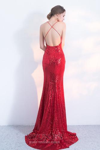 Vestido de fiesta Corpiño Con lentejuelas Corte Sirena Estrellado Natural - Página 2