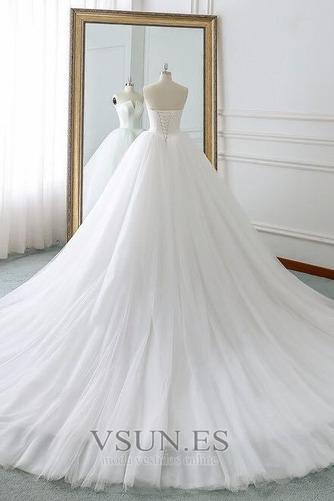 Vestido de novia Corte-A primavera Drapeado largo Cordón Sala - Página 4