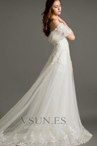 Vestido de novia Encaje Elegante Corte-A Pera Cola Corte Cremallera - Página 3