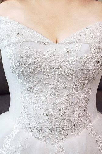 Vestido de novia Elegante Escote con Hombros caídos Capa de encaje Camiseta - Página 5