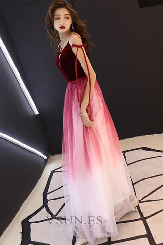 Vestido de fiesta Elegante Corte-A Natural Espalda Descubierta Escote en V - Página 7