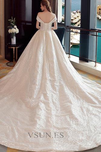 Vestido de novia Colores Iglesia Estrellado Con lentejuelas Otoño Escote con Hombros caídos - Página 2