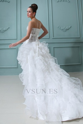 Vestido de novia Sin tirantes Manzana Asimétrico Dobladillo Cintura Baja - Página 4