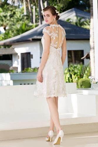 Vestido de novia Clasicos Espalda con ojo de cerradura Joya Apliques - Página 2