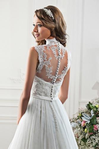 Vestido de novia Fajas Encaje Corte-A primavera Escote con cuello Alto - Página 2