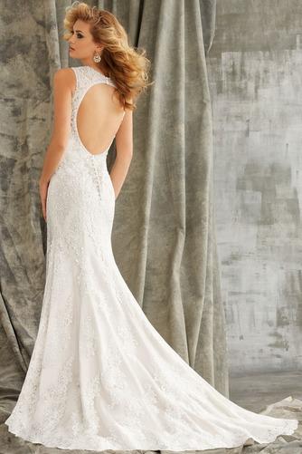 Vestido de novia primavera Natural Cola Capilla Corte Sirena Cristal - Página 2