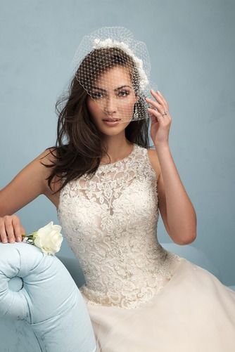 Vestido de novia Modesto Cremallera Otoño Natural largo Sin mangas - Página 3