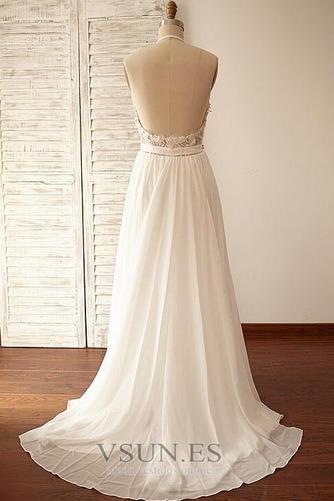 Vestido de novia Encaje Cinturón de cuentas Natural Fuera de casa Corte-A - Página 2