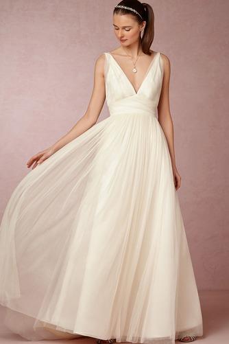 Vestido de novia Informal Apliques Sin mangas Espalda Descubierta Natural - Página 2