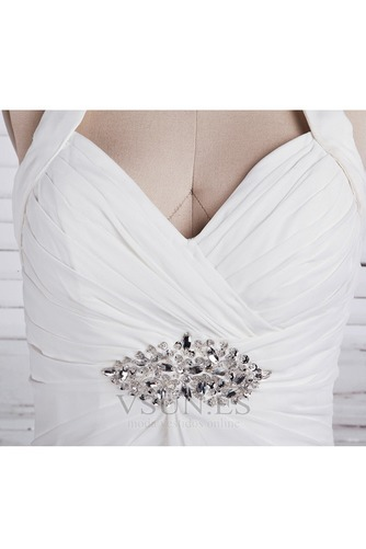 Vestido de novia Imperio Sin mangas Otoño Tallas pequeñas Cola Corte - Página 4