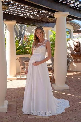 Vestido de novia Embarazadas Escote redondo Drapeado Imperio Cintura - Página 1