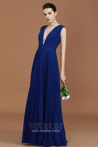 Vestido de dama de honor Falta Escote en V Otoño Baja escote en V Sencillo Corte-A - Página 3