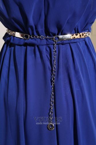 Vestido de madrina Natural Corte-A Gasa Espalda medio descubierto Hasta el suelo - Página 6