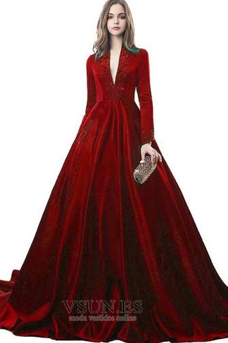Vestido de novia Drapeado Formal Corpiño Acentuado con Perla Natural - Página 9