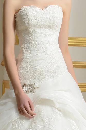 Vestido de novia Capa de encaje Sin mangas primavera Espalda Descubierta - Página 4