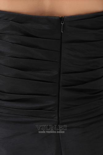 Vestido de cóctel Corte-A Satén Sin mangas Corto Falta Plisado - Página 5