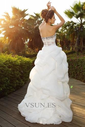 Vestido de novia Formal Falta Otoño Organza Apliques Asimètrico - Página 2