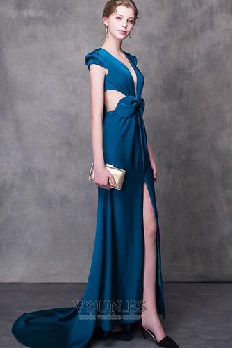 Vestido de fiesta largo Falta Verano Natural Elegante Escote en V - Página 1