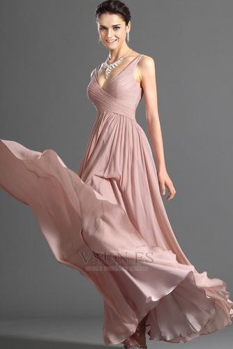 Vestido de noche Blusa plisada Plisado Cremallera Corte-A Sin mangas - Página 5