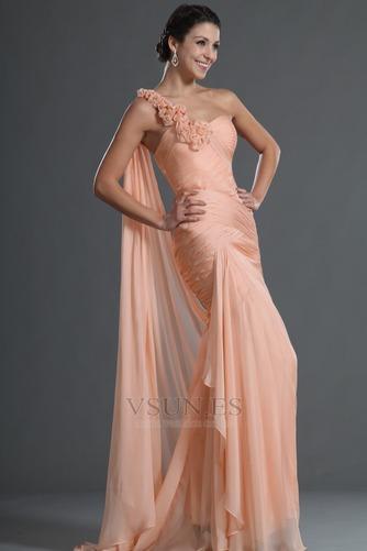 Vestido de noche 2015 Verano Gasa Corte Sirena Cremallera Rosetón Acentuado - Página 4