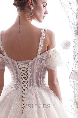 Vestido de novia Apliques Manga tapada Fuera de casa Natural largo vendimia - Página 6