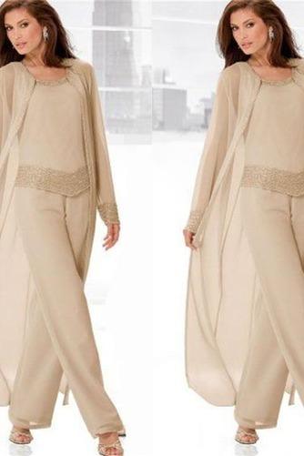 Vestido de madre traje de pantalones Glamouroso Manga de Obispo Natural Alto cubierto Abalorio - Página 1