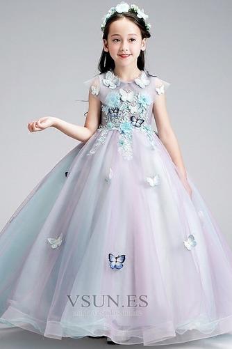 Vestido niña ceremonia Sin mangas Corte-A primavera Joya Natural Formal - Página 3