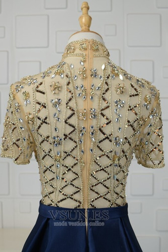 Vestido de noche Natural Escote con cuello Alto Corpiño Acentuado con Perla - Página 8