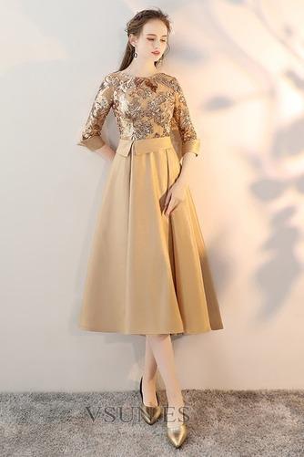 Vestido de cóctel Corpiño Con lentejuelas primavera Con lentejuelas Natural - Página 1