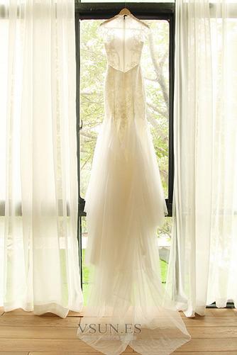 Vestido de novia Apliques Cola Corte Formal Cremallera Corpiño Acentuado con Perla - Página 7