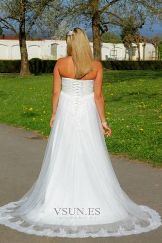 Vestido de novia Sin tirantes Embarazadas Imperio Imperio Cintura Sin mangas - Página 2